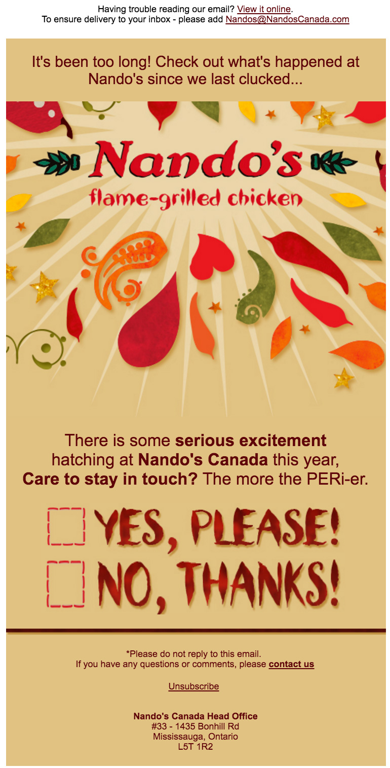 Nando's-Flame grilled chicken